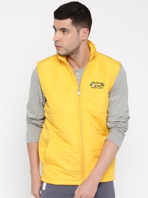 FILA Yellow Sleeveless Puffer Jacket