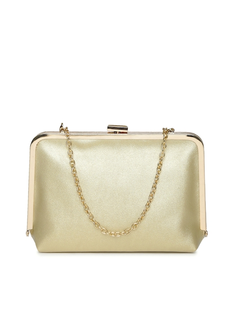 Lino Perros Muted Gold-Toned Clutch with Chain Strap