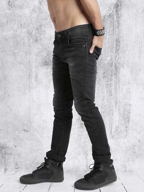 RDSTR Men Black Skinny Fit Stretchable Jeans