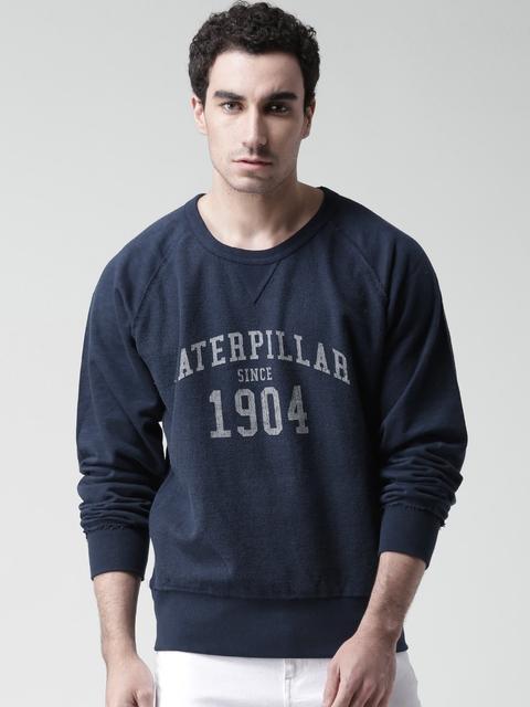 CAT Navy 1904 Printed Sweatshirt