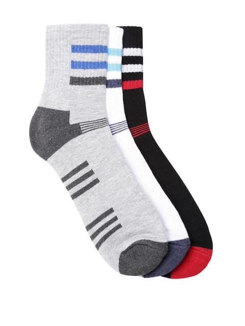 Roadster Men Pack of 3 Striped Above Ankle-Length Socks
