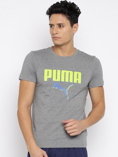 Puma Men Grey Printed Round Neck DryCELL T-Shirt