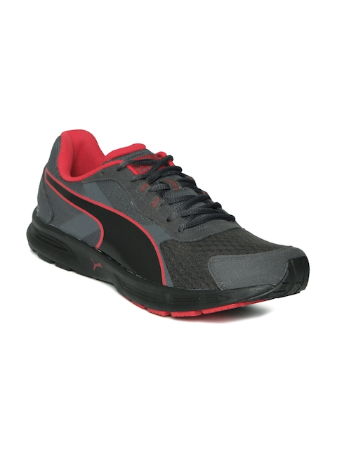 Puma Men Charcoal Grey Descendant V3 DP Running Shoes