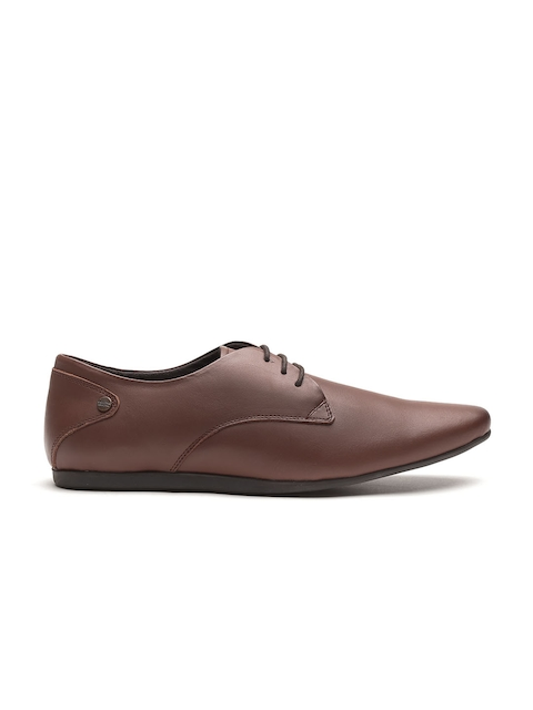 Carlton London Men Brown Leather Formal Shoes