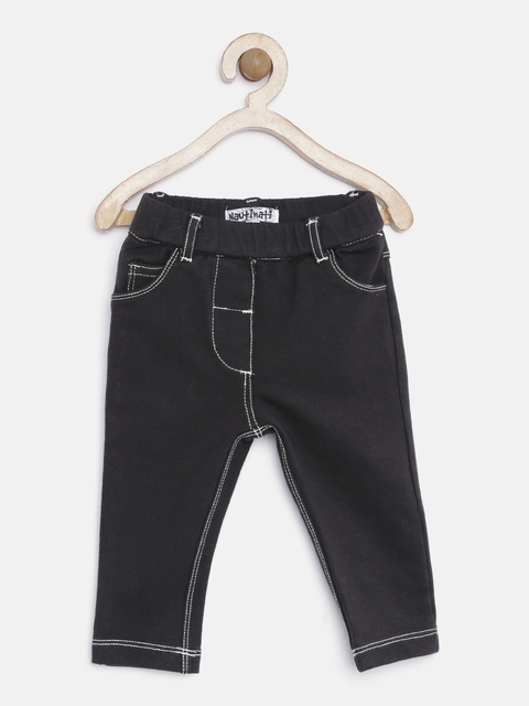 Nauti Nati Girls Black Stretchable Jeans  available at myntra for Rs.380