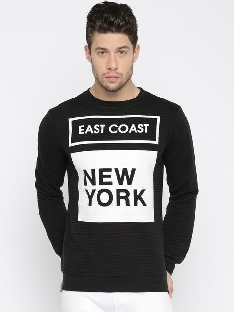 ALCOTT Black & White Printed Sweatshirt
