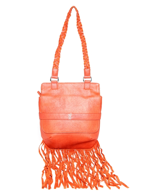 Baggit Orange Fringed Shoulder Bag