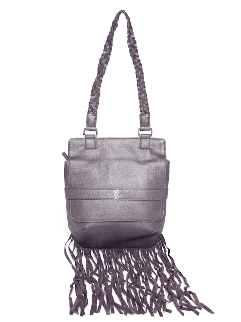 Baggit Purple Fringed Shoulder Bag