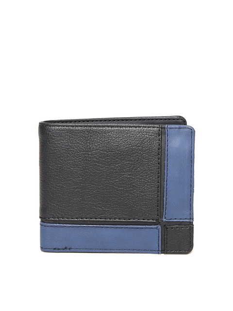 Baggit Men Black & Blue Colourblocked Wallet