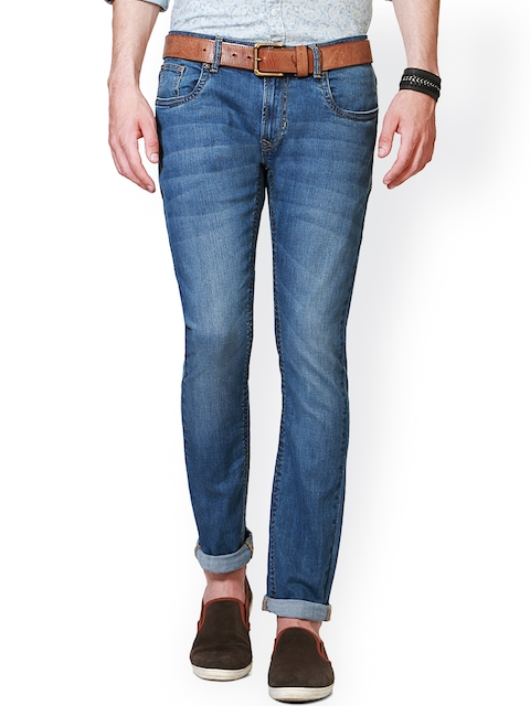 Peter England Men Blue Skinny Fit Low-Rise Clean Look Jeans