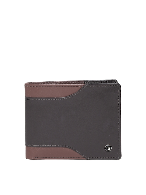 Peter England Men Brown Genuine Leather Wallet  available at myntra for Rs.599