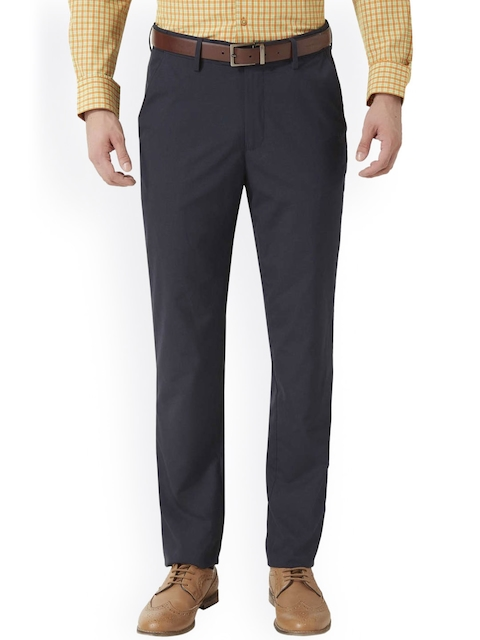 Peter England Navy Slim Fit Formal Trousers
