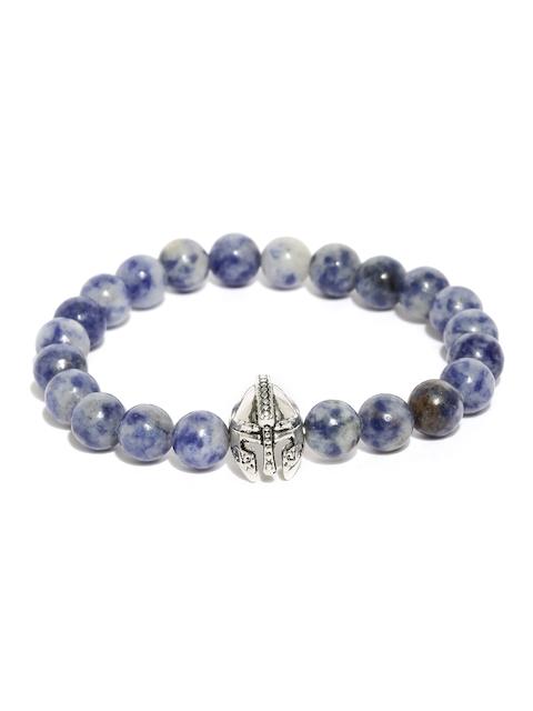 The Bro Code Men Blue Beaded Bracelet