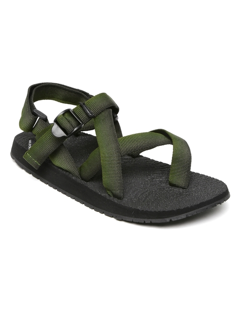 Wildcraft Men Olive Green Gladiator Sports Sandals