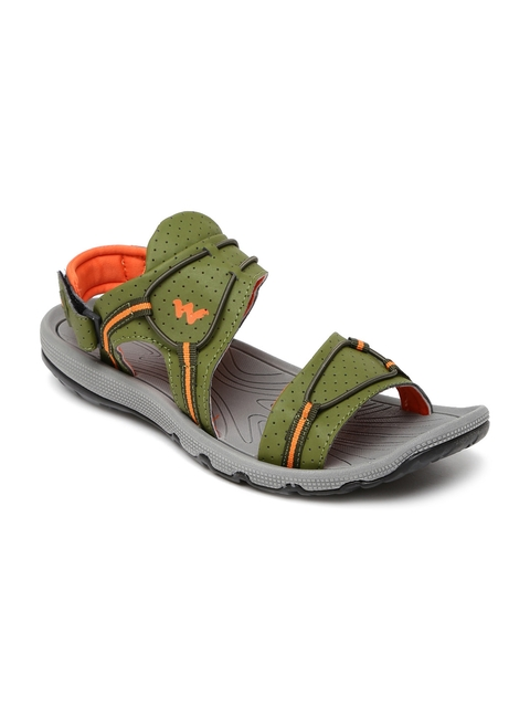 Wildcraft - - Wildcraft Men Olive Green & Orange Odell Sandals