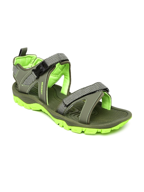 Wildcraft - - Wildcraft Men Olive Green Ridley Sandals