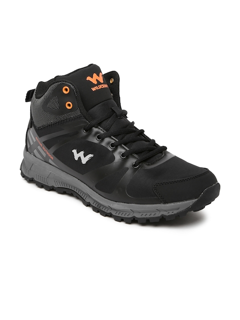 Wildcraft Men Black Mid-Top Oro Black 11 M Trekking Shoes