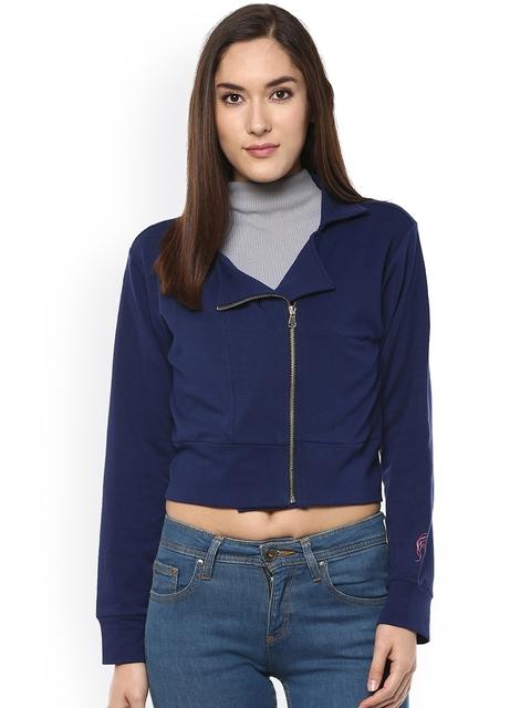 Sakhi Sang Blue Crop Tailored Jacket