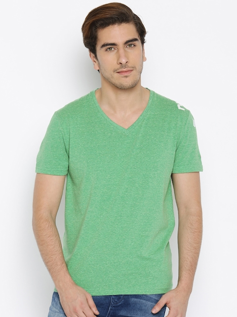 Being Human Clothing Men Green T-Shirt
