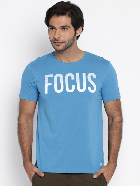 Being Human Clothing Men Blue Printed T-shirt  available at myntra for Rs.449