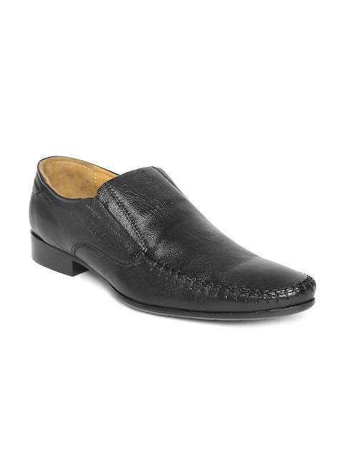 Red Chief Men Black Genuine Leather Semiformal Slip-ons