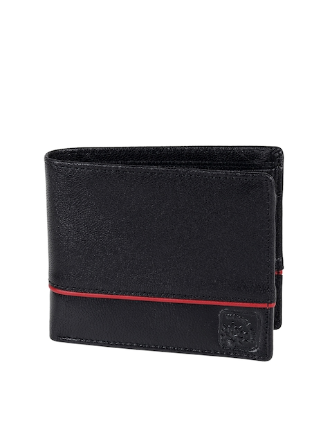 Woodland Men Black Genuine Leather Wallet