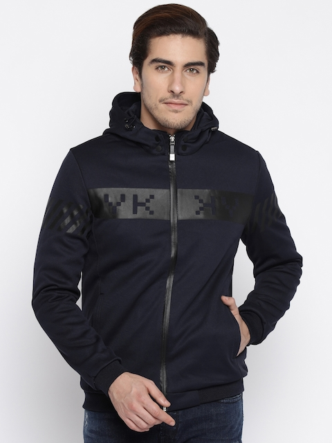 The Indian Garage Co. Navy Hooded Jacket