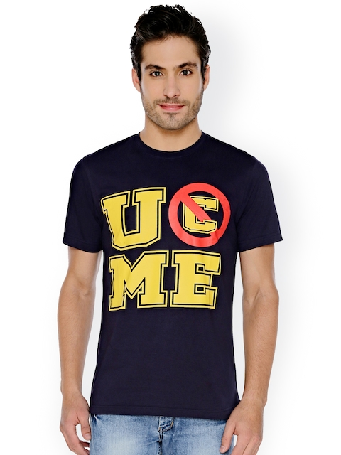 The Souled Store Unisex Navy WWE: U C Me John Cena Printed Round Neck T-shirt  available at myntra for Rs.524