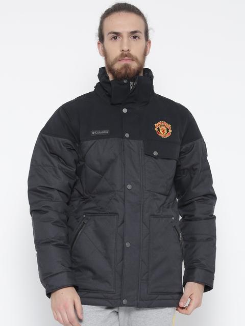 Columbia Black Barlow Pass 550 TurboDown Parka Outdoor Jacket with Detachable Hood