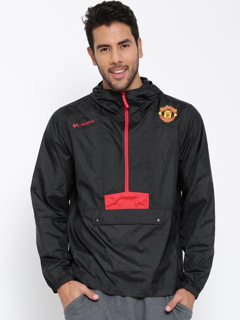 Columbia Black Flashback Manchester United F.C. Hooded Windcheater Jacket