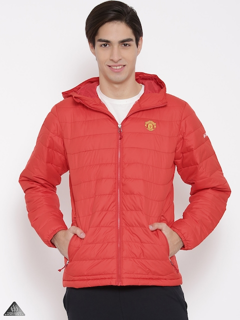 Columbia Red Manchester United FC Powder Lite Water-Resistant Hooded Puffer Jacket