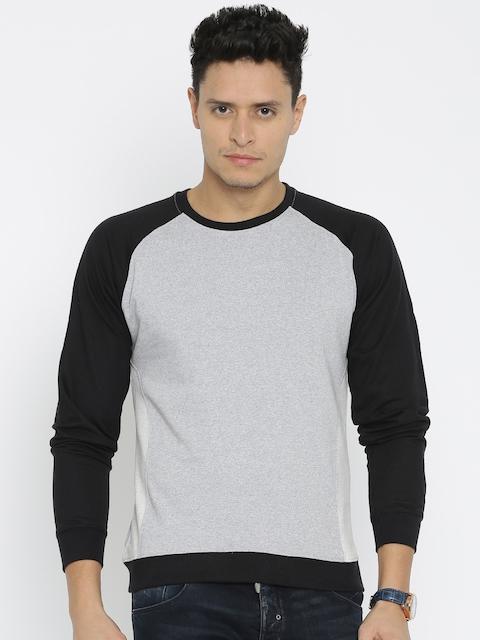 American Crew Grey Melange & Black Sweatshirt