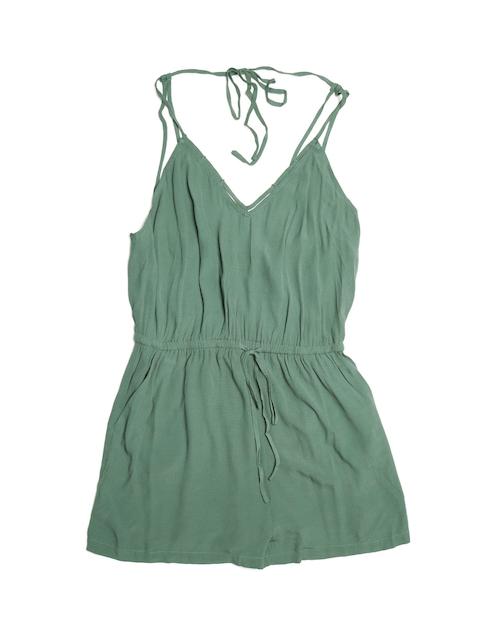 FOREVER 21 Women Green Playsuit