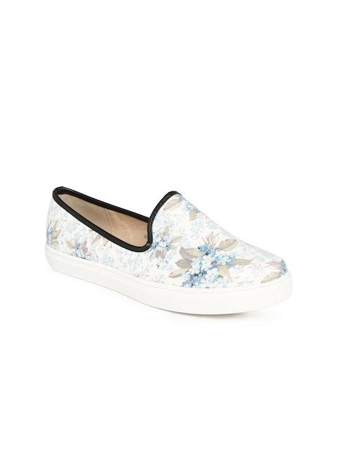 Allen Solly Women White Printed Regular Slip-On Sneakers