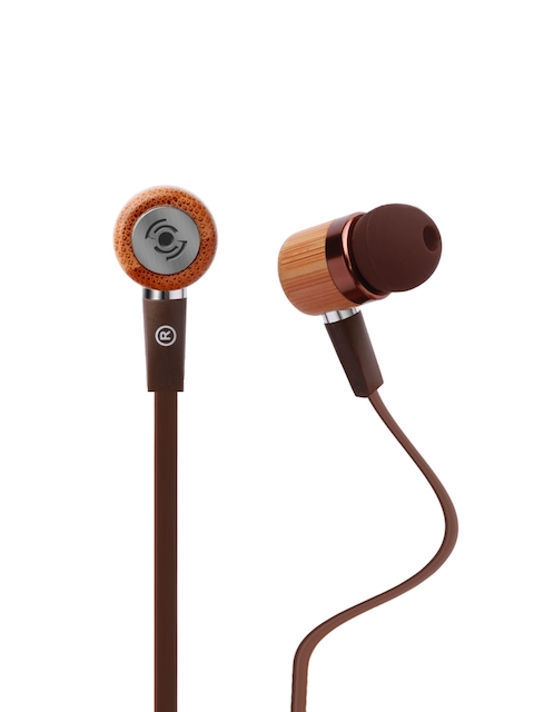 Tekfusion Brown Ecoofers In-Ear Wired Bamboo Earphones  available at myntra for Rs.769