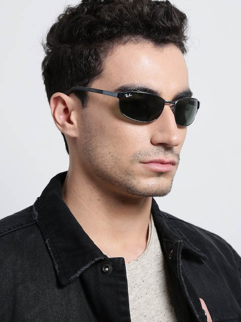 Ray-Ban Men Rectangle Sunglasses 0RB3146I01360