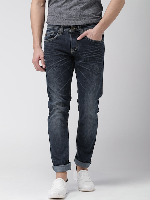 Celio Men Navy Blue Slim Fit Stretchable Jeans  available at myntra for Rs.1679