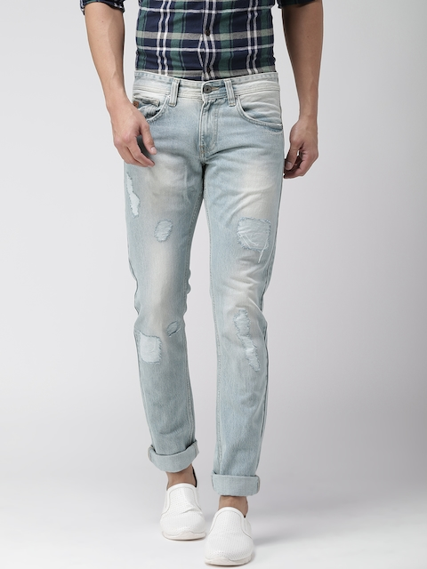 Celio Men Blue Slim Fit Mid-Rise Mildly Distressed Jeans  available at myntra for Rs.1599