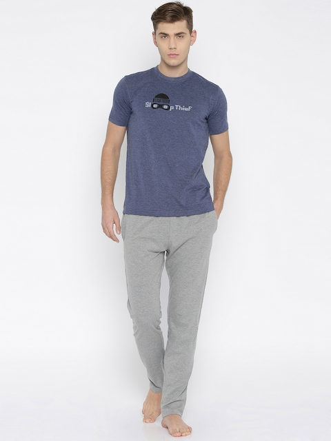 John Players Blue & Grey Melange Clothing Set