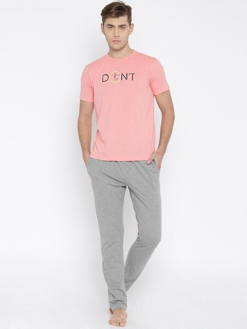 John Players Pink & Grey Melange Clothing Set