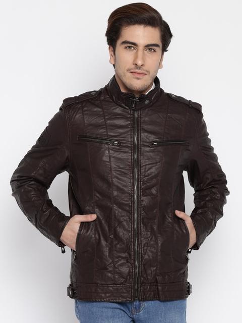 Being Human Clothing Brown Biker Jacket