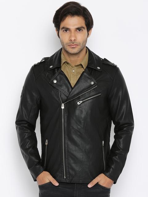 Being Human Men Black Biker Jacket