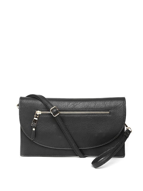 Mast & Harbour Black Clutch with Sling Strap & Wrist Loop