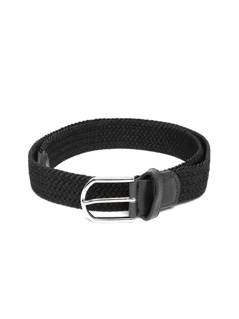 Lino Perros Men Black Basketweave Belt