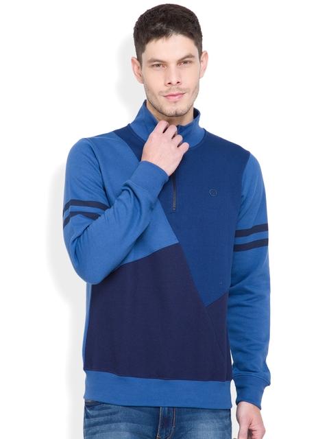 LOCOMOTIVE Blue Colourblocked Sweatshirt