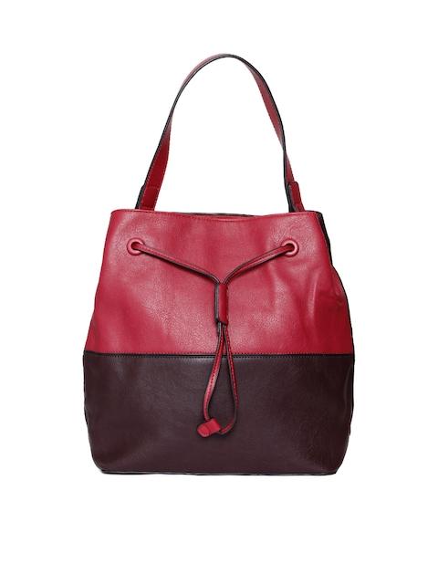 Mast & Harbour Red & Brown Colourblocked Shoulder Bag