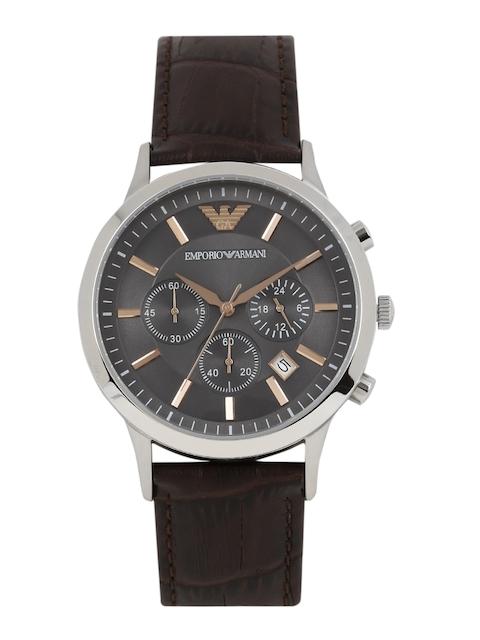 Emporio Armani Men Gunmetal-Toned Chronograph Watch AR2513I