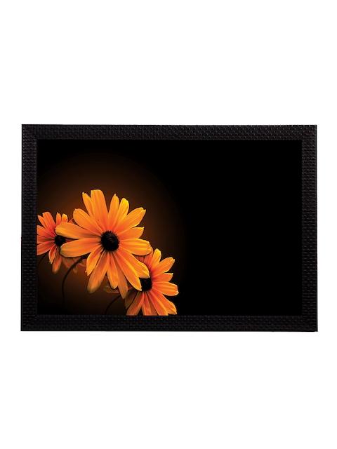 eCraftIndia Orange Sunflower UV Wall Art