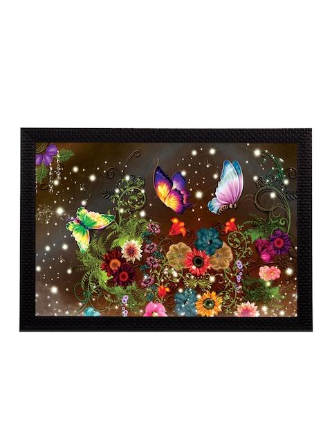eCraftIndia Multicoloured Floral UV Wall Art