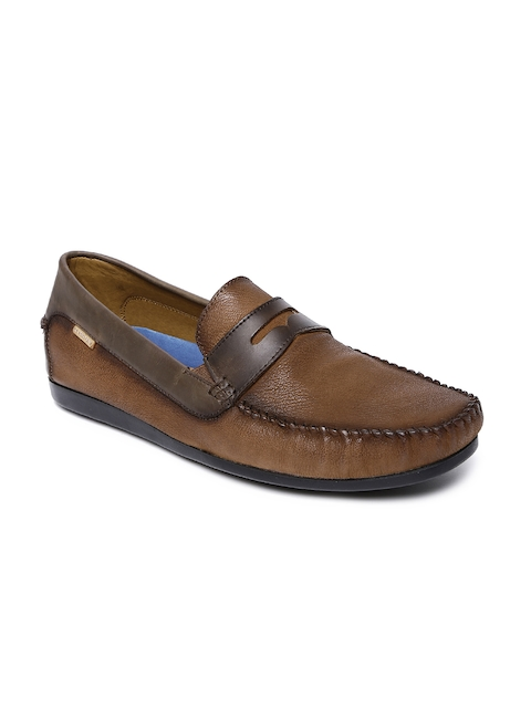 U.S. Polo Assn. Men Brown Solid Leather Loafers
